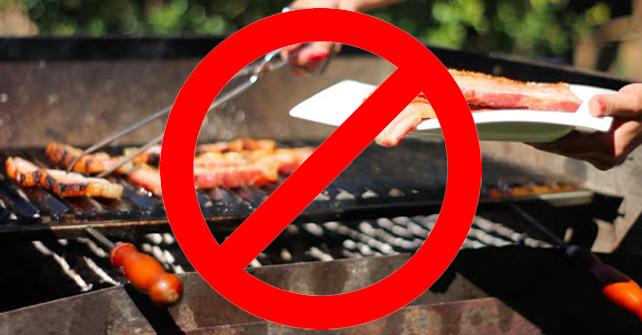 Prohibido realizar barbacoas